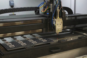 example of LaserCube laser punch press combo